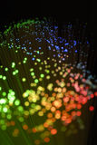 Optic fibers Stock Image