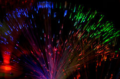 Optic fibers Stock Images