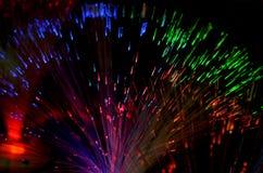 Optic fibers. Photo from Orange fiber optic Stock Images