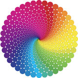 Optic illusion. Abstract design with geometric shapes optical illusion illustration Stock Photos