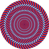 Optic illusion. Abstract design with geometric shapes optical illusion illustration Royalty Free Stock Image