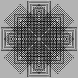 Optic illusion. Abstract design with geometric shapes optical illusion illustration Stock Image