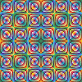 Optic illusion illustration. Psychedelic design in full color range, seamless Royalty Free Stock Photos