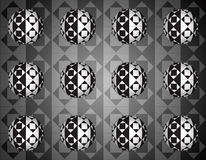 Optical 3d rhombus spheres background Stock Images