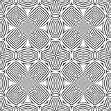 Optical art abstract cross seamless deco pattern Stock Photo