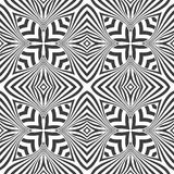 Optical art abstract seamless pattern Royalty Free Stock Photography