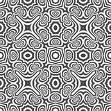 Optical art abstract seamless pattern Royalty Free Stock Images