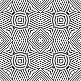 Optical art abstract striped seamless deco pattern Stock Photos