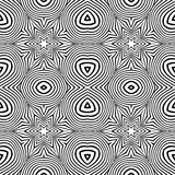 Optical art abstract striped seamless deco pattern Stock Images