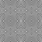Optical art abstract striped seamless deco pattern Royalty Free Stock Photos