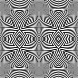 Optical art abstract striped seamless deco pattern Royalty Free Stock Photo