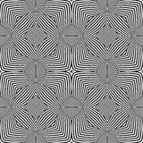 Optical art abstract striped seamless deco pattern Royalty Free Stock Photography