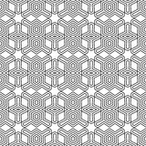 Optical art abstract striped seamless deco pattern Stock Photo