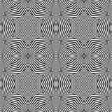 Optical art abstract striped seamless deco pattern Stock Image