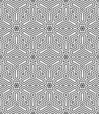 Optical art abstract striped seamless deco pattern Royalty Free Stock Images