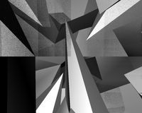 Optical Art Abstract Wedges 01 Royalty Free Stock Photo