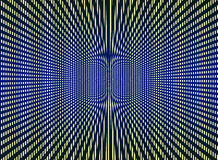 Optical art background. Optical art multicolor black, yellow, blue background Royalty Free Stock Photography