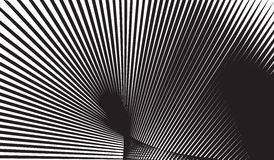 Optical art background black and white vector Royalty Free Stock Photography
