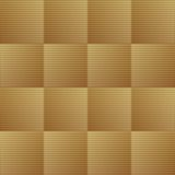 Optical art background with 3d illusion, golden gradient grid in checker design Royalty Free Stock Photo