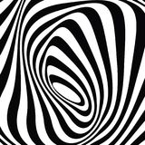 Pop design: black and white optical graphic art. Optical art background like Zebra snout texture, ideal for wallpaper, banner, card Stock Photography