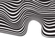 Optical art background wave design black and white Stock Photo