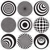 Optical Art in Black and White Royalty Free Stock Photo