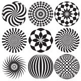 Optical Art in Black and White Royalty Free Stock Image