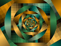 Optical Art Fractal Enclosing Circles One Greens Royalty Free Stock Photo
