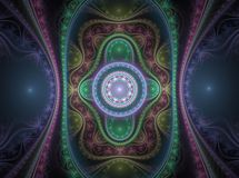 Optical Art Grand Julian Fractal 02 Stock Photos