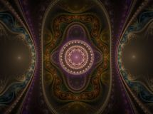 Optical Art Grand Julian Fractal 04 Royalty Free Stock Images