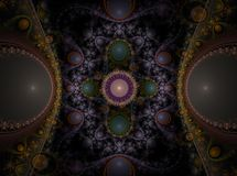 Optical Art Grand Julian Fractal 10 Royalty Free Stock Photography