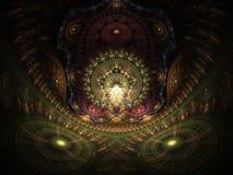 Optical Art Home of the Buddah 02. Optical Art Grand Julian Fractal 27 Made Through Flame Fractal vector illustration