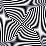 Optical art. Optical illusion background. Modern geometric background. Monochrome vector pattern. Black and white. Optical art. Optical illusion background Royalty Free Stock Photos