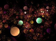 Optical Art Light Balls Fractal 01 Stock Photography