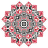 Optical Art. Op art, also known as optical art, is a style of visual art that makes use of optical illusions Stock Photos