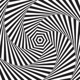 Optical art. Optical illusion background. Modern geometric background. Monochrome vector pattern. Optical art. Optical illusion background. Modern geometric Stock Image