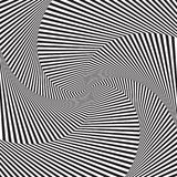 Optical art. Optical illusion background. Modern geometric background. Monochrome vector pattern. Design for wallpaper wrapping fabric background backdrops Royalty Free Stock Photography