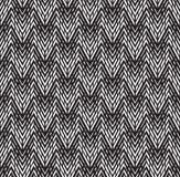 Optical art pattern seamless background black and white Stock Image