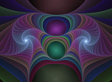 Optical Art Plastics Fractal 06 Royalty Free Stock Photo