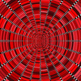 Optical art in red tones Stock Photo