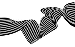 Optical art wave abstract background black and white.  Stock Photos