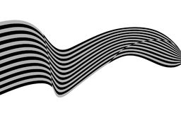 Optical art wave abstract background black and white.  Stock Photography