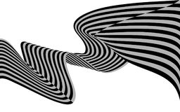 Optical art wave abstract background black and white.  Stock Images