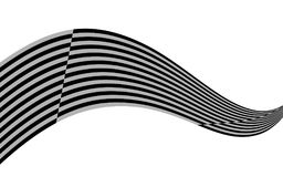 Optical art wave abstract background black and white.  vector illustration