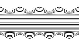 Optical art wave abstract background black and white.  Royalty Free Stock Images