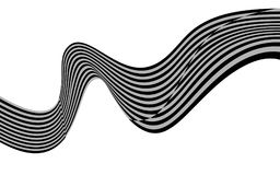 Optical art wave abstract background black and white.  Royalty Free Stock Photography