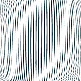 Optical background with monochrome geometric lines. Moire patter Stock Images