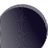 Optical background with monochrome geometric lines. Moire patter. N, trance effect Stock Image