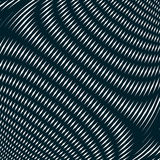 Optical background with monochrome geometric lines. Moire patter Royalty Free Stock Photo