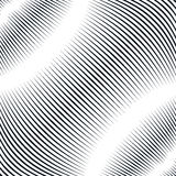 Optical background with monochrome geometric lines. Moire patter Royalty Free Stock Image
